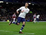 Tottenham Hotspur's Dele Alli celebrates scoring their first goal on March 7, 2020