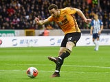 Diogo Jota in action for Wolverhampton Wanderers on March 7, 2020