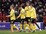 Millwall's Matt Smith celebrates scoring against Nottingham Forest on March 6, 2020