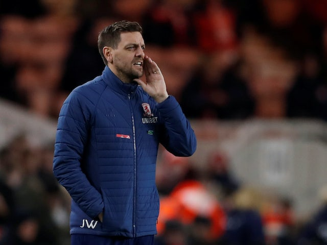 Middlesbrough boss Jonathan Woodgate on March 2, 2020