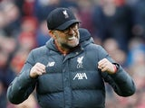 Liverpool boss Jurgen Klopp growls with excitement on March 7, 2020
