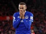 Everton's Cenk Tosun reacts in November 2019