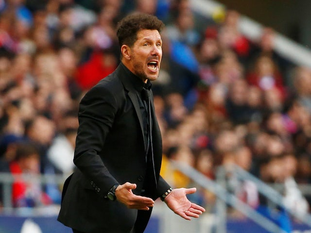 Atletico Madrid manager Diego Simeone pictured in March 2020