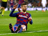 Gerard Pique in action for Barcelona on March 1, 2020