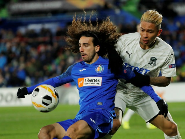 Marc Cucurella in Europa League action for Getafe in December 2019