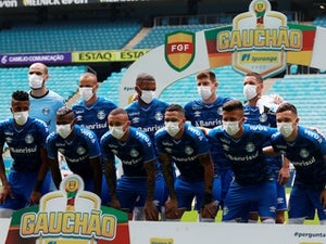 Coronavirus latest: Gremio players wear face masks after being forced to play