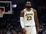 LeBron James in action for the Lakers on March 8, 2020