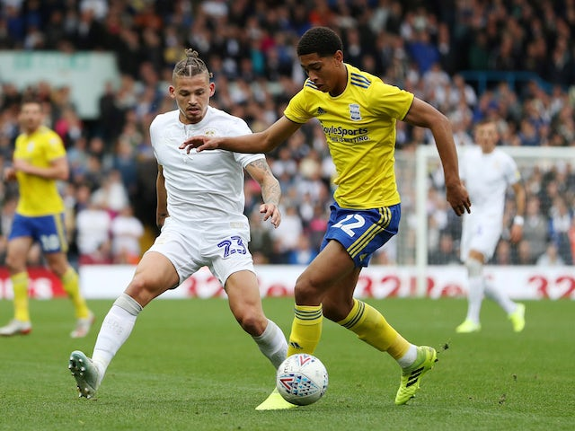 Birmingham City midfielder Jude Bellingham in action against Leeds United in October 2019