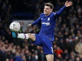 Mason Mount in action for Chelsea on March 3, 2020