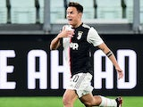 Paulo Dybala celebrates scoring for Juventus on March 8, 2020