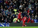Bayer Leverkusen's Leon Bailey celebrates scoring their third goal on March 12, 2020