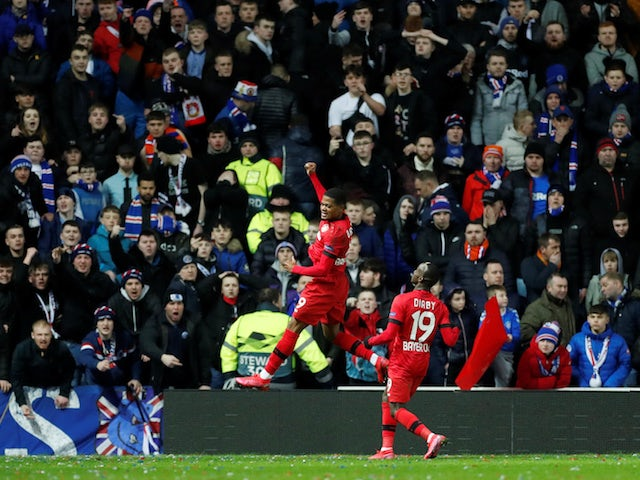 Result: Bayer Leverkusen win at Ibrox to leave Rangers on brink of Europa League exit