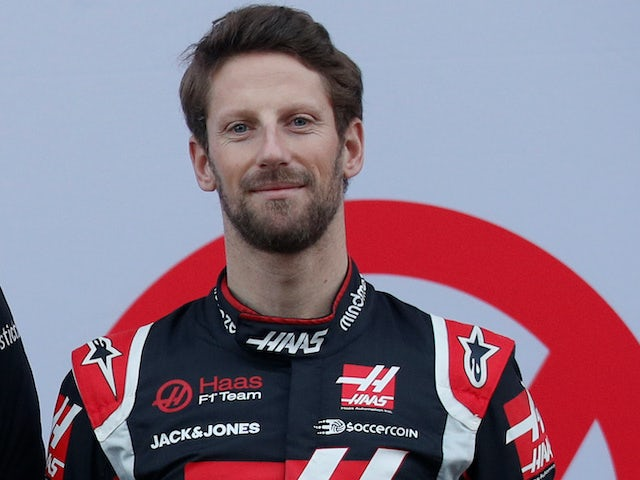 Romain Grosjean pictured on February 19, 2020