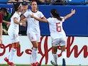 Alexia Putellas celebrates scoring for Spain Women on March 11, 2020