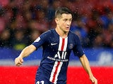 Paris Saint-Germain midfielder Ander Herrera in Ligue 1 action in September 2019