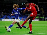 Wolverhampton Wanderers defender Dion Sanderson in loan action for Cardiff City in February 2020
