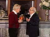 Ken Barlow and Norris Cole have a chat in Coronation Street