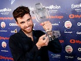 Duncan Laurence celebrates winning the Eurovision Song Contest on May 19, 2019