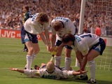 England players celebrate at Euro 96