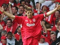 Steven Gerrard celebrates Liverpool winning the FA Cup in May 2006
