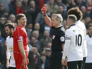 On this day: Steven Gerrard sent off after 38 seconds in final Man Utd meeting