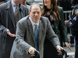 Harvey Weinstein arrives at court on February 18, 2020