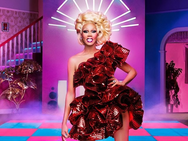 RuPaul in a promo shot for RuPaul's Drag Race UK season one