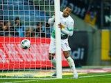 Borussia Monchengladbach's Alassane Plea reacts after scoring a disallowed penalty on February 22, 2020