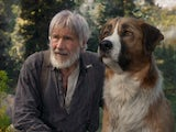 Harrison Ford and a large dog in Call of the Wild