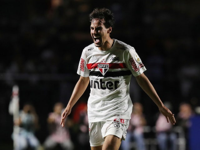 Sao Paulo midfielder Igor Gomes pictured in March 2020