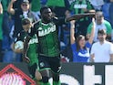 Jeremie Boga pictured for Sassuolo in October 2019