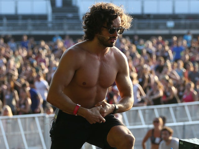 Joe Wicks takes part in a fitness session in July 2017