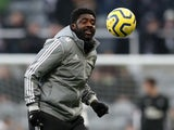 Leicester City first team coach Kolo Toure during the warm up before the match on January 1, 2020