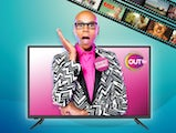 RuPaul in a promo for OUTtv