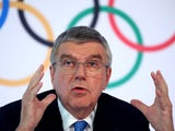 Thomas Bach, President of the International Olympic Committee (IOC) attends a news conference after an Executive Board meeting in Lausanne, Switzerland, March 4, 2020
