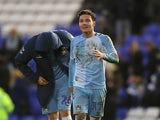 Coventry City's Callum O'Hare reacts at the end of the match in December 2019