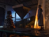 The Doctor is confronted by a Dalek in Doctor Who