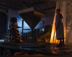 """Watch: Dalek orders British """"humans"""" to stay indoors"""