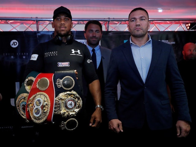 Eddie Hearn suggests Anthony Joshua defence will not be behind closed doors