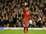 Maxi Rodriguez pictured for Liverpool in May 2012
