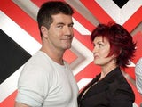 Sharon Osbourne and Simon Cowell in a promo shot for The X Factor