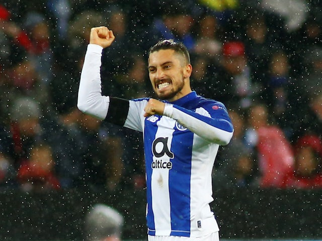 Alex Telles pictured for Porto in February 2020