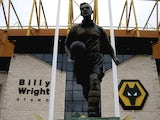 A statue of England and Wolverhampton Wanderers legend Billy Wright outside Molineux