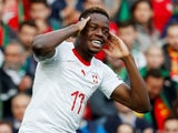 Borussia Monchengladbach midfielder Denis Zakaria celebrates scoring for Switzerland in June 2019