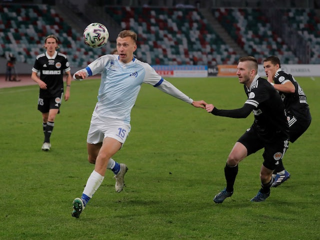 Belarusian top flight - FC Dinamo Minsk's Vladislav Klimovich in action, despite most sport being cancelled around the world as the spread of coronavirus disease (COVID-19) continues