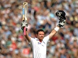 England's Ian Bell celebrates his double-century against India in 2011