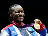 Nicola Adams celebrates winning gold at the London 2012 Olympics