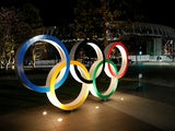 A general view of Olympic rings following an outbreak of the coronavirus disease (COVID-19), in front of the Japan Olympics Museum in Tokyo, Japan March 24, 2020