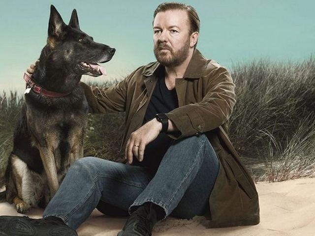 Ricky Gervais working on After Life scripts in lockdown