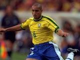 Roberto Carlos pictured for Brazil in 1998